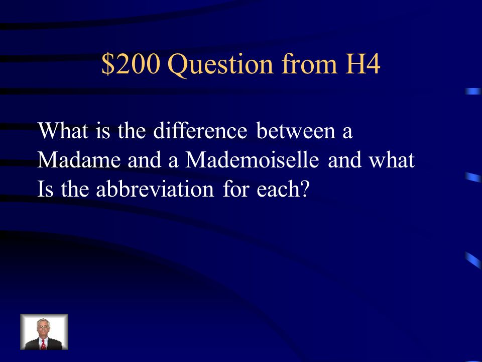 $200 Question from H4 What is the difference between a
