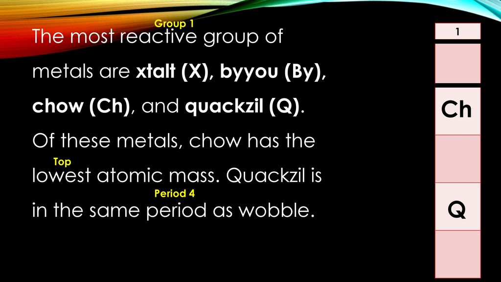 Alien periodic table ppt video online download 4 the urtaz
