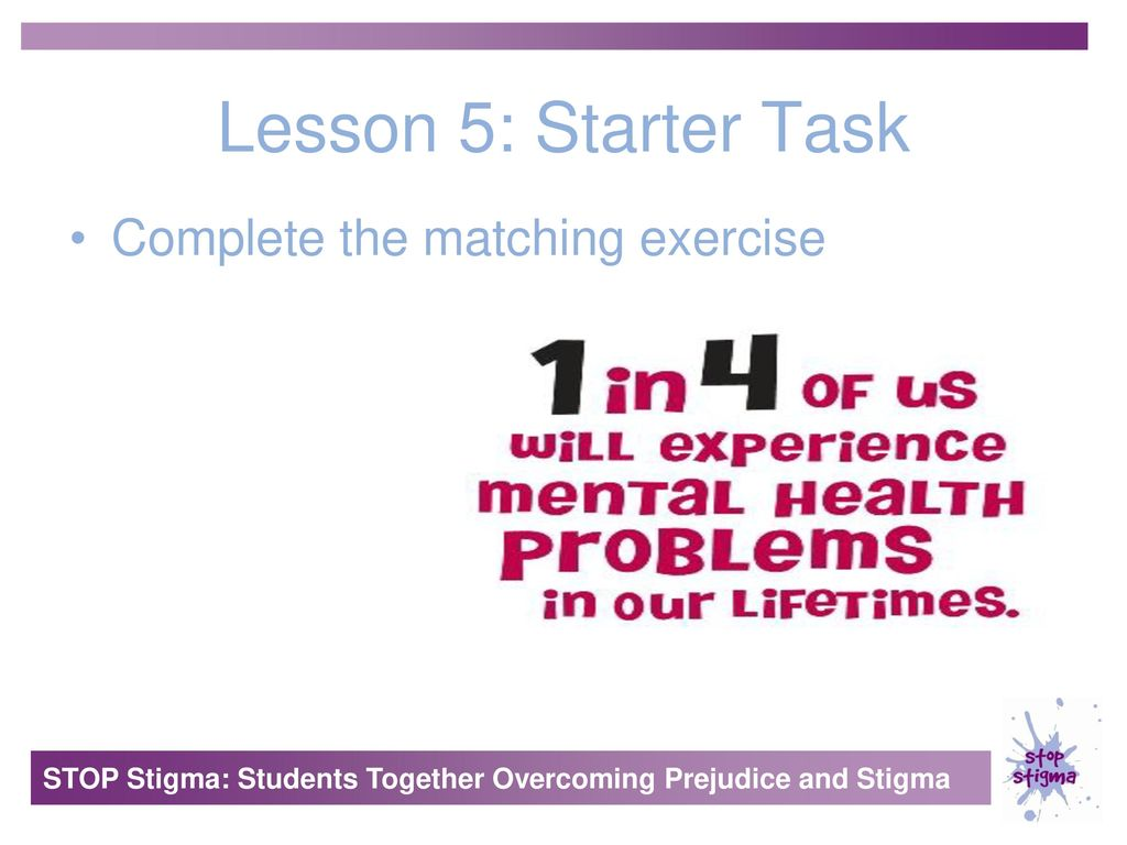 Lesson 1 Starter Task Brain Storm Words Associated With Mental