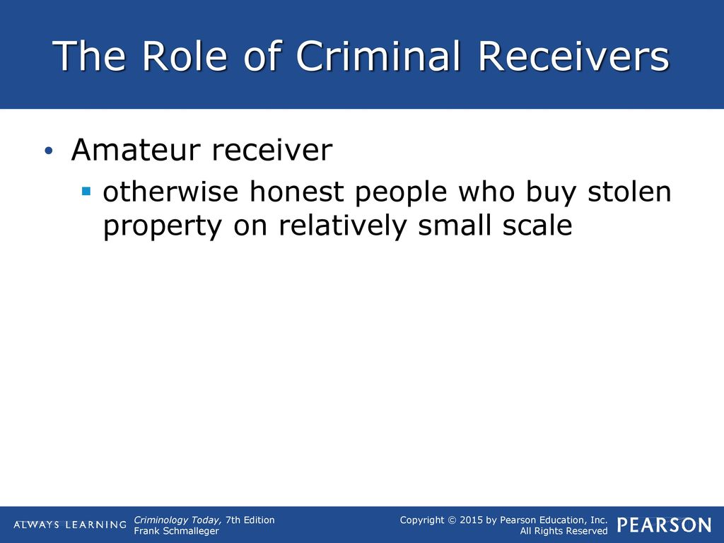 a receiver of stolen goods