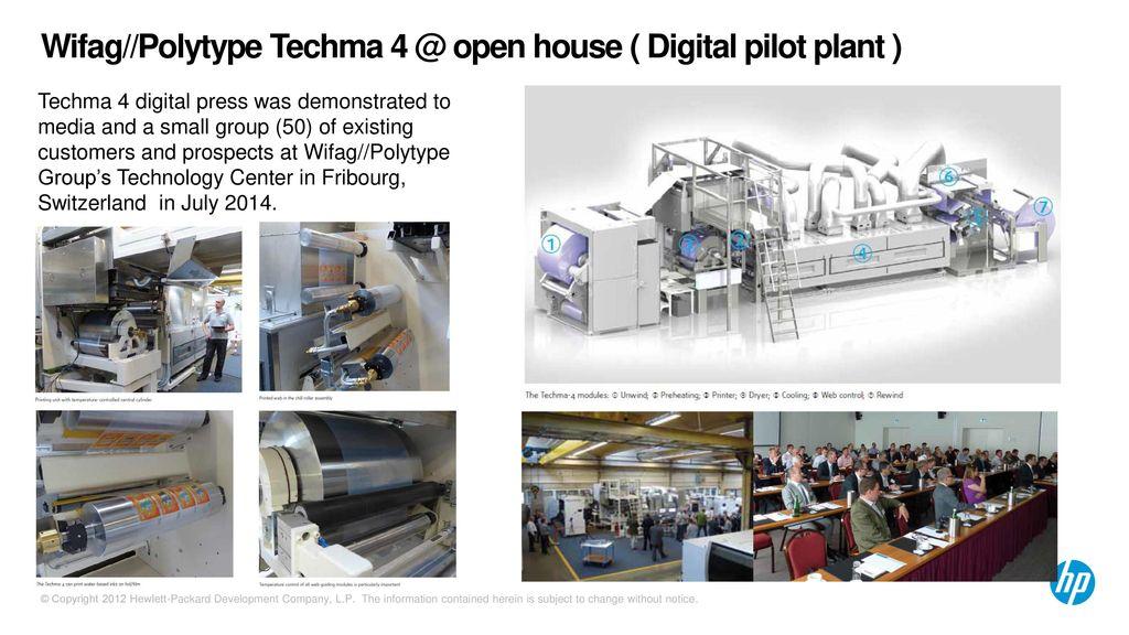 """HP Indigo Digital Press Sell against """"Wifag//Polytype Techma"""