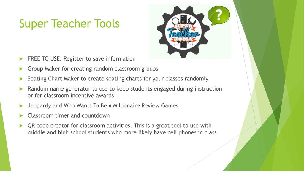 15 great web based tools for teachers ppt download