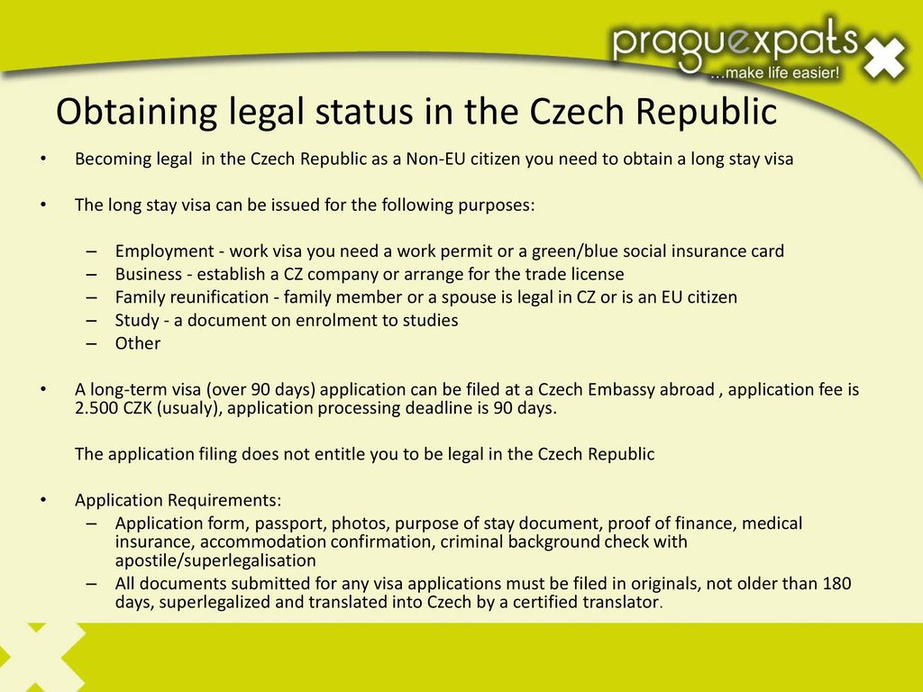 With The Business Purpose In The Czech Republic Ppt Download