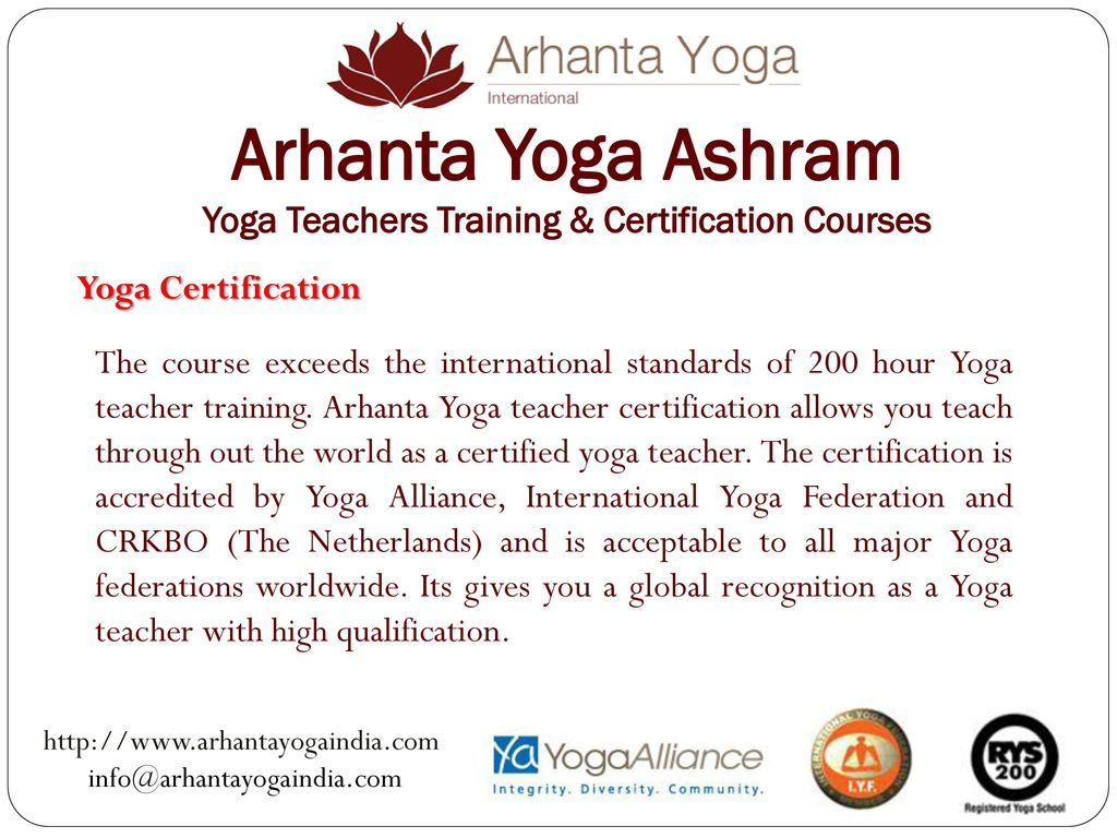 Arhanta Yoga Ashram Yoga Teachers Training Certification Courses