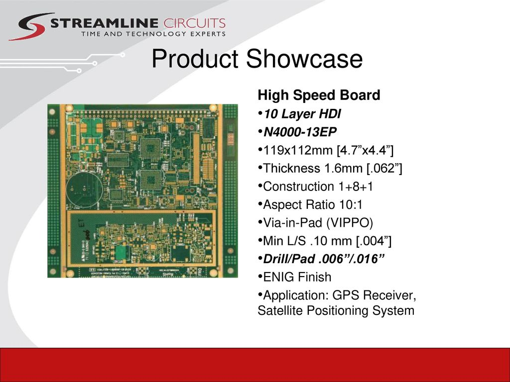 Your Technology Experts Ppt Download Printed Circuit Board Using Hdi Product Showcase High Speed 10 Layer N Ep