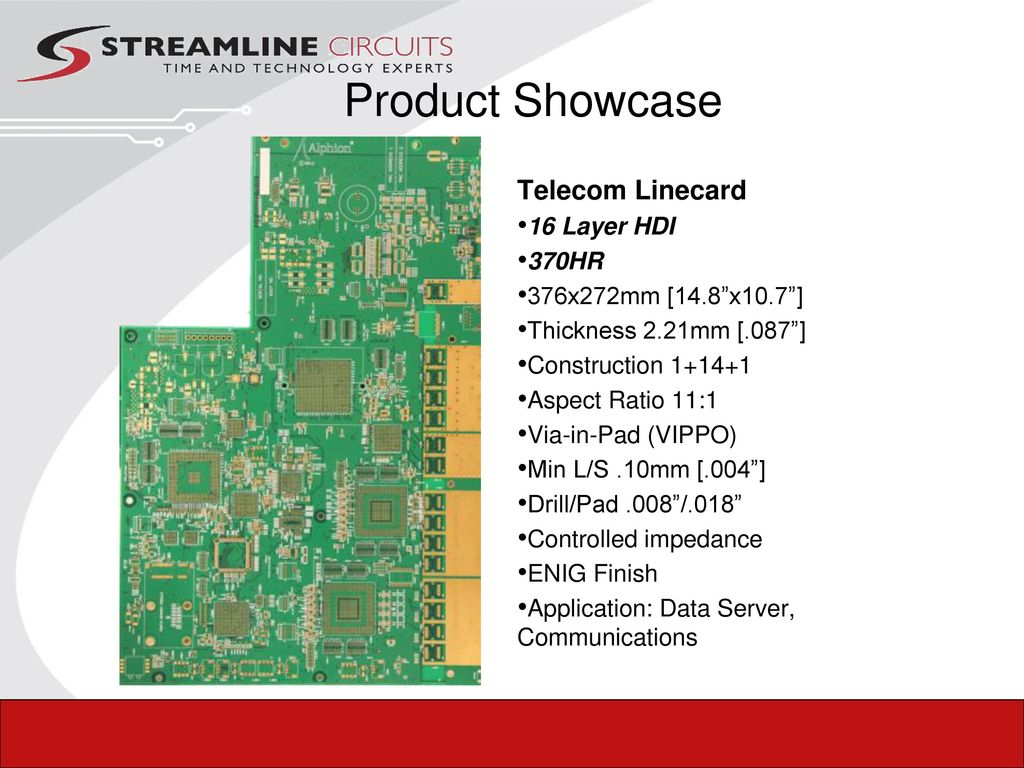 Your Technology Experts Ppt Download High Tg Multilayer Printed Circuit Board 16 Layer Fast Pcb Prototype Product Showcase Telecom Linecard Hdi 370hr