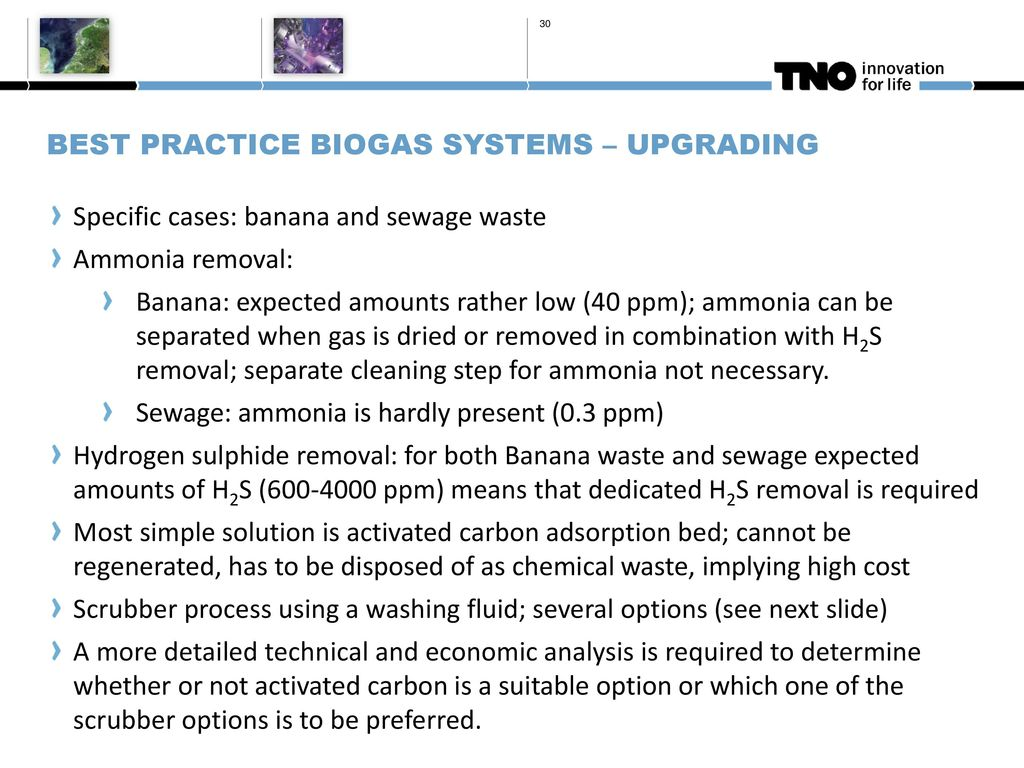 Development of next generation biogas cleaning & upgrading