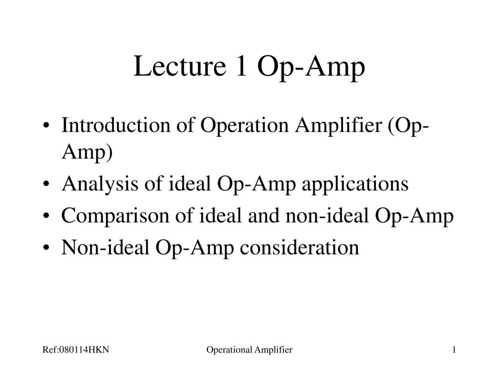 Operational Amplifier Ppt Download But Many Others Dual Amplifiers Will Fit Too