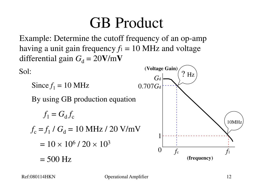 Operational Amplifier Ppt Download The Opamp Circuit Is A Current Find Currentgaini0 I