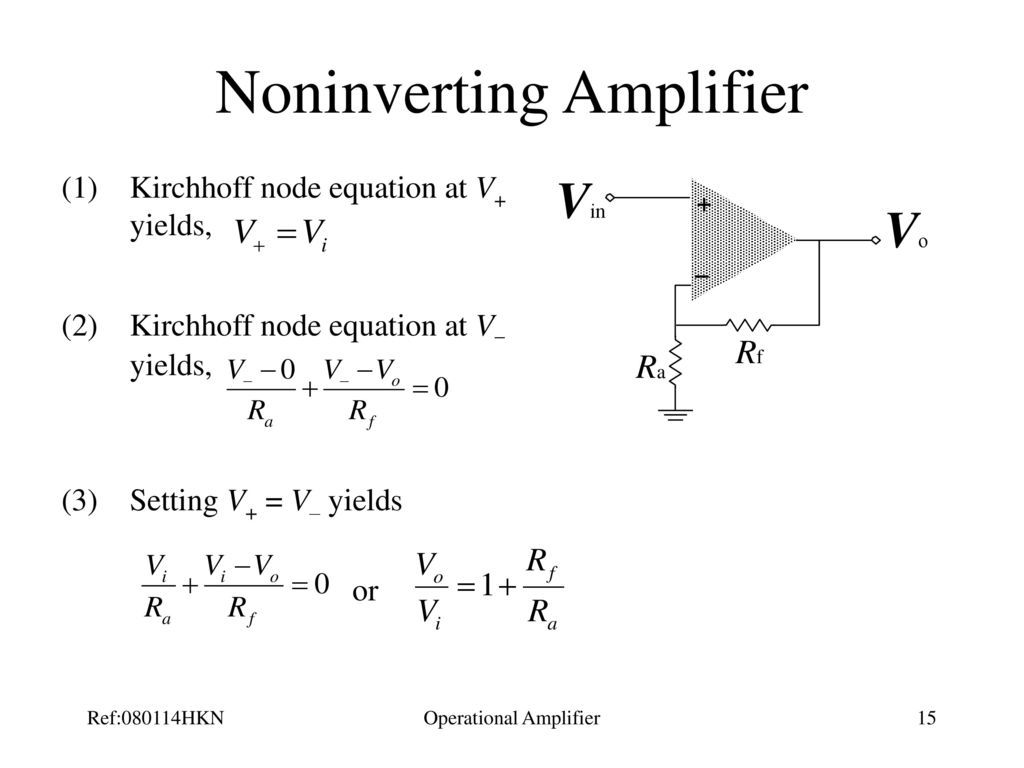 Operational Amplifier Ppt Download Op Amp How Does This Opamp Noninverting Work