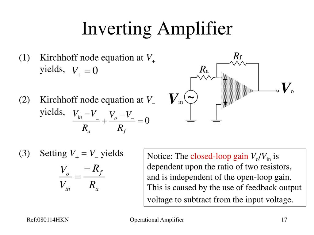 Operational Amplifier Ppt Download The Used As An A Simple Explanation