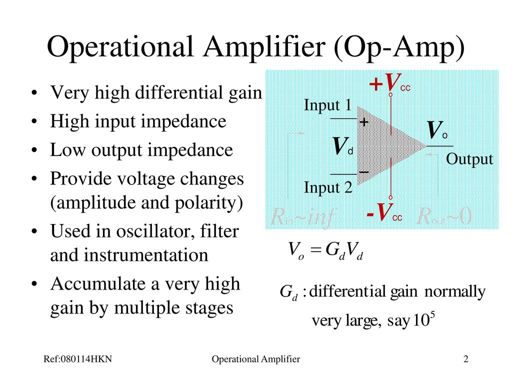 Operational Amplifier Ppt Download But Many Others Dual Amplifiers Will Fit Too 2
