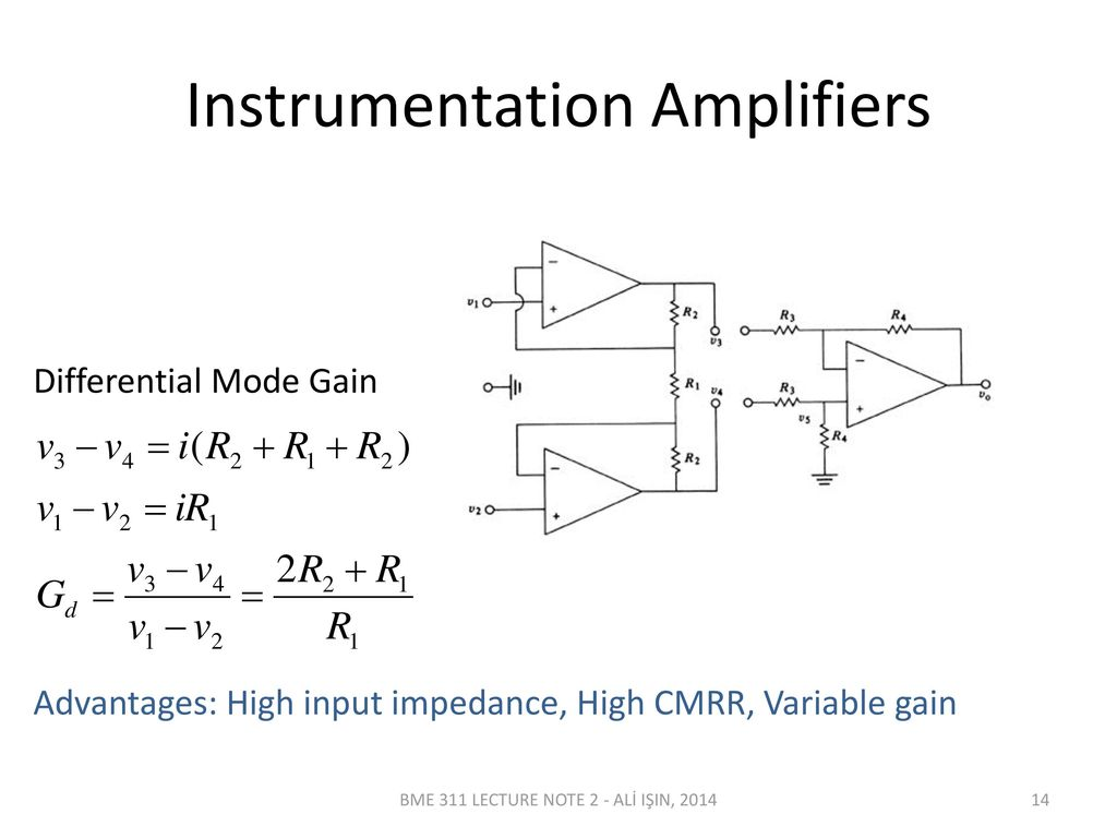 Bme 311 Biomedical Instrumentation I Lecturer Ali In Ppt Download Gain Amplifier Schematic Diagram The Voltage Controlled Variable Amplifiers