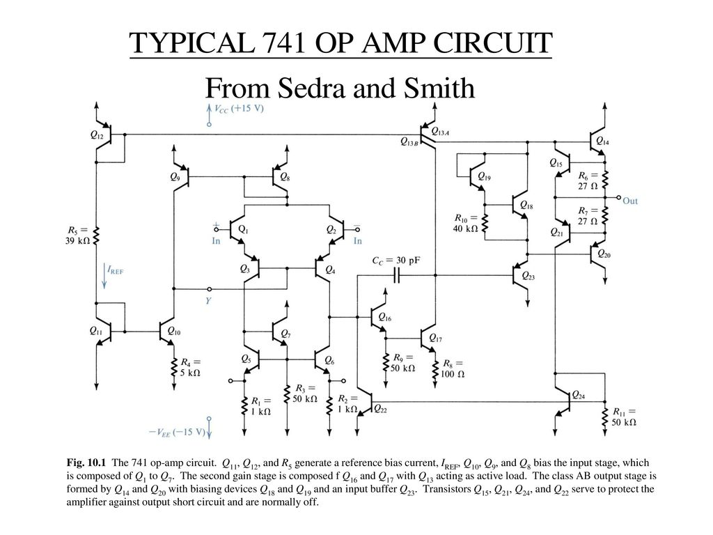 Electric Circuits Ecse 2010 Spring 2003 Class 9 Ppt Download Dark Active Switch Circuit 741 Opamp Electronics Projects Fig The Op Amp