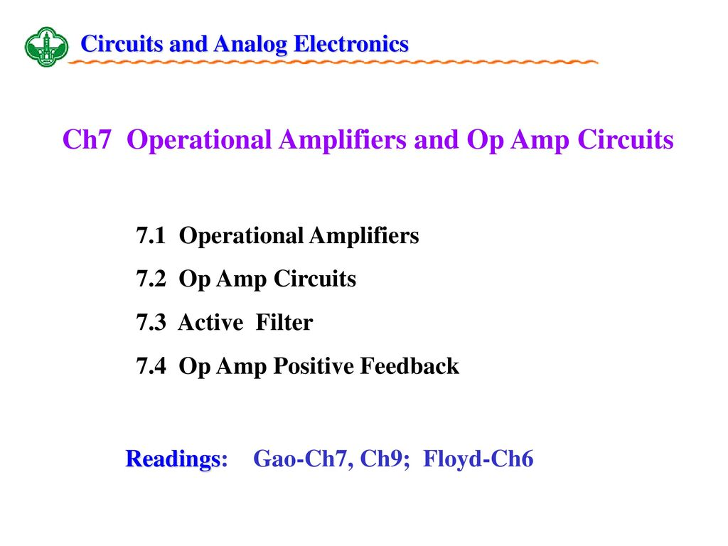 Positive Feedback Opamp Circuits Analog Integrated Circuits