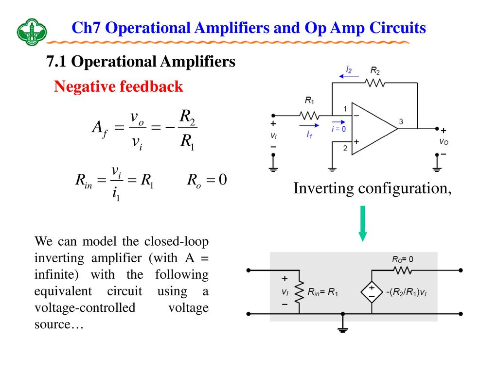 Ch7 Operational Amplifiers And Op Amp Circuits Ppt Download Practical Inverting Amplifier Using 741