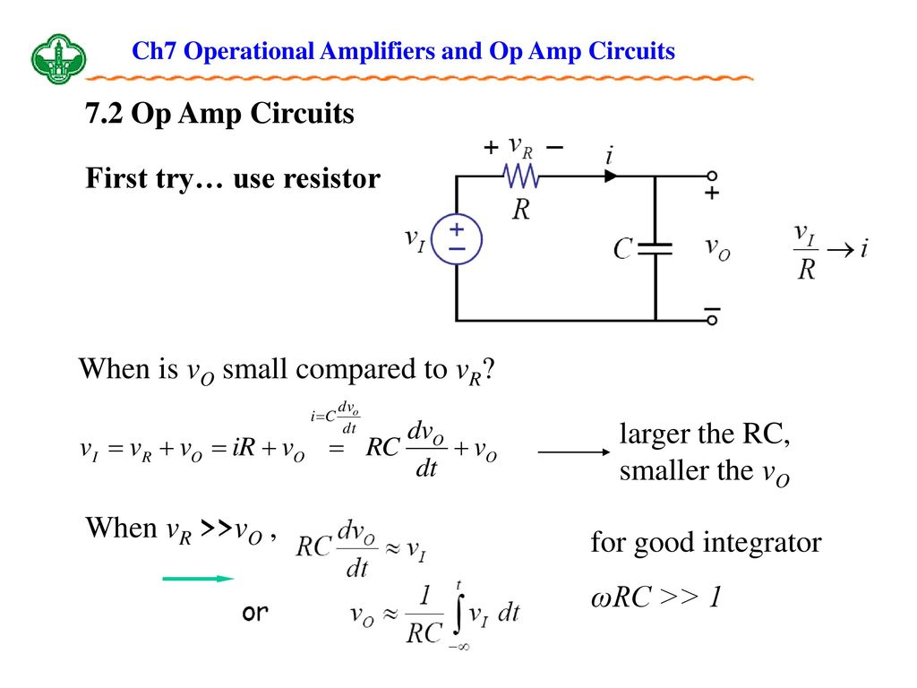 Ch7 Operational Amplifiers And Op Amp Circuits Ppt Download Circuit Integrator