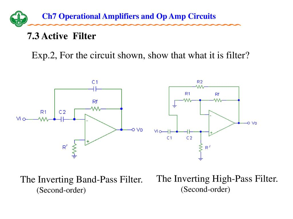 Ch7 Operational Amplifiers And Op Amp Circuits Ppt Download L Filter Circuit Diagram