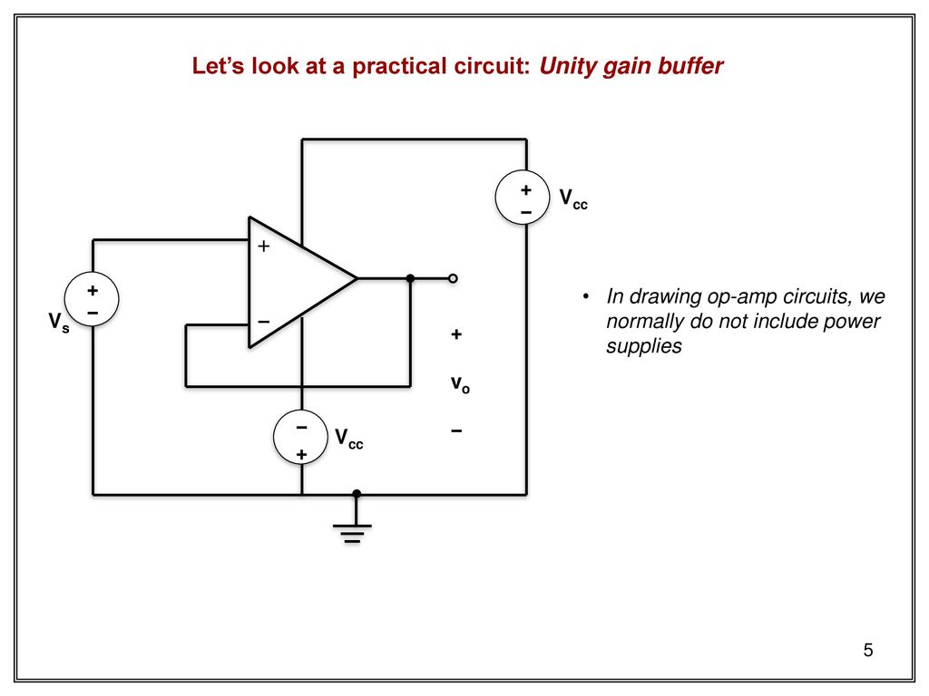 Techniques Of Dc Circuit Analysis Skee Ppt Download Power Op Amp Lets Look At A Practical Unity Gain Buffer