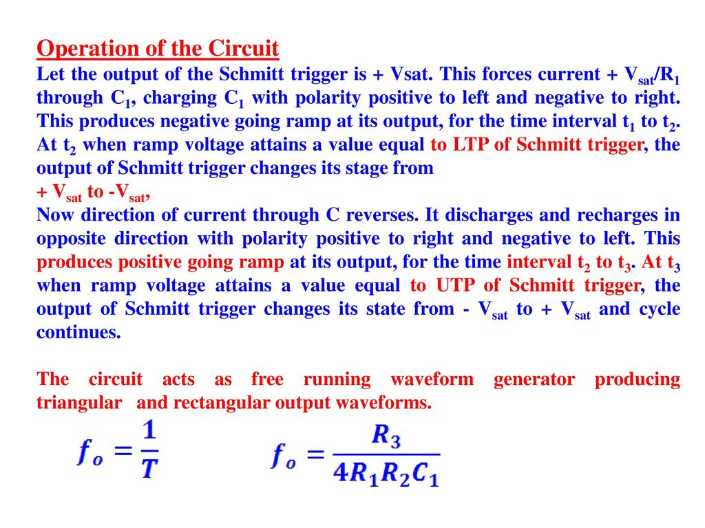 Applications Of Op Amps Ppt Video Online Download Triangular Waveform Using Schmitt Trigger Rectangular Wave Generator 29 Operation
