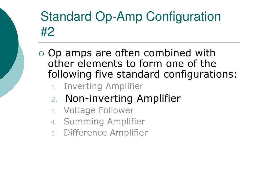 Egr 2201 Unit 7 Operational Amplifiers Ppt Download Practical Inverting Amplifier Using 741 Standard Op Amp Configuration 2