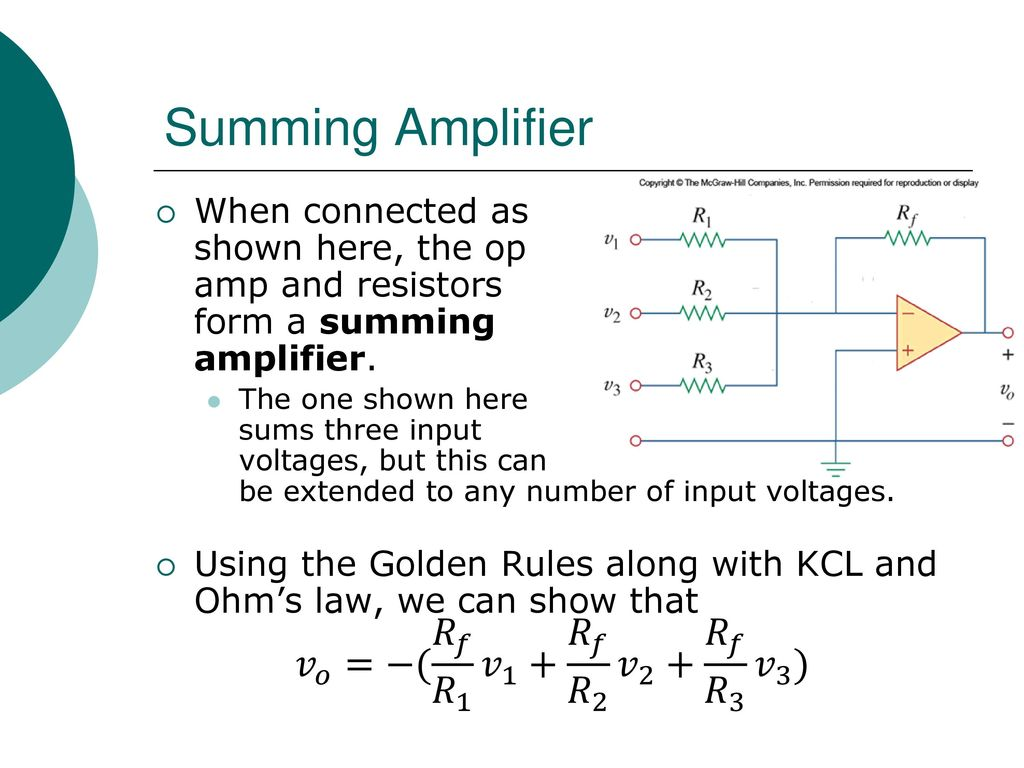 Egr 2201 Unit 7 Operational Amplifiers Ppt Download Op Amp Summing Amplifier 36