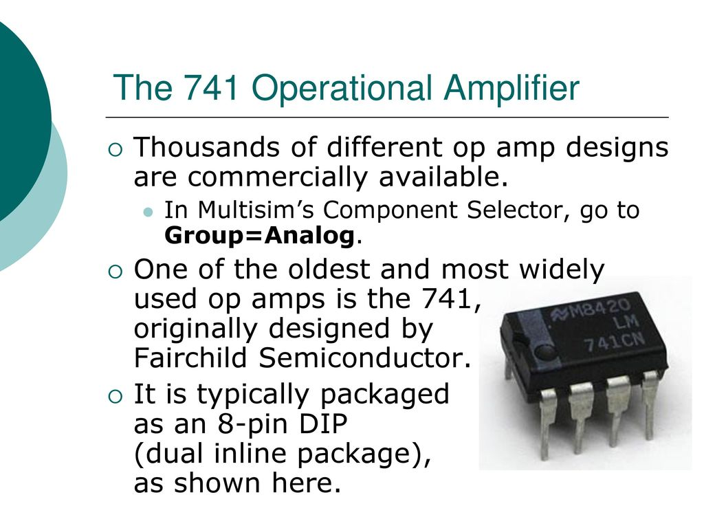 Egr 2201 Unit 7 Operational Amplifiers Ppt Download 741 Amplifier Circuit The