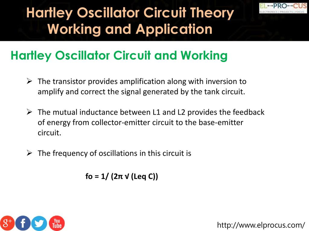Hartley Oscillator Circuit Theory Working And Application Ppt Download Opamp