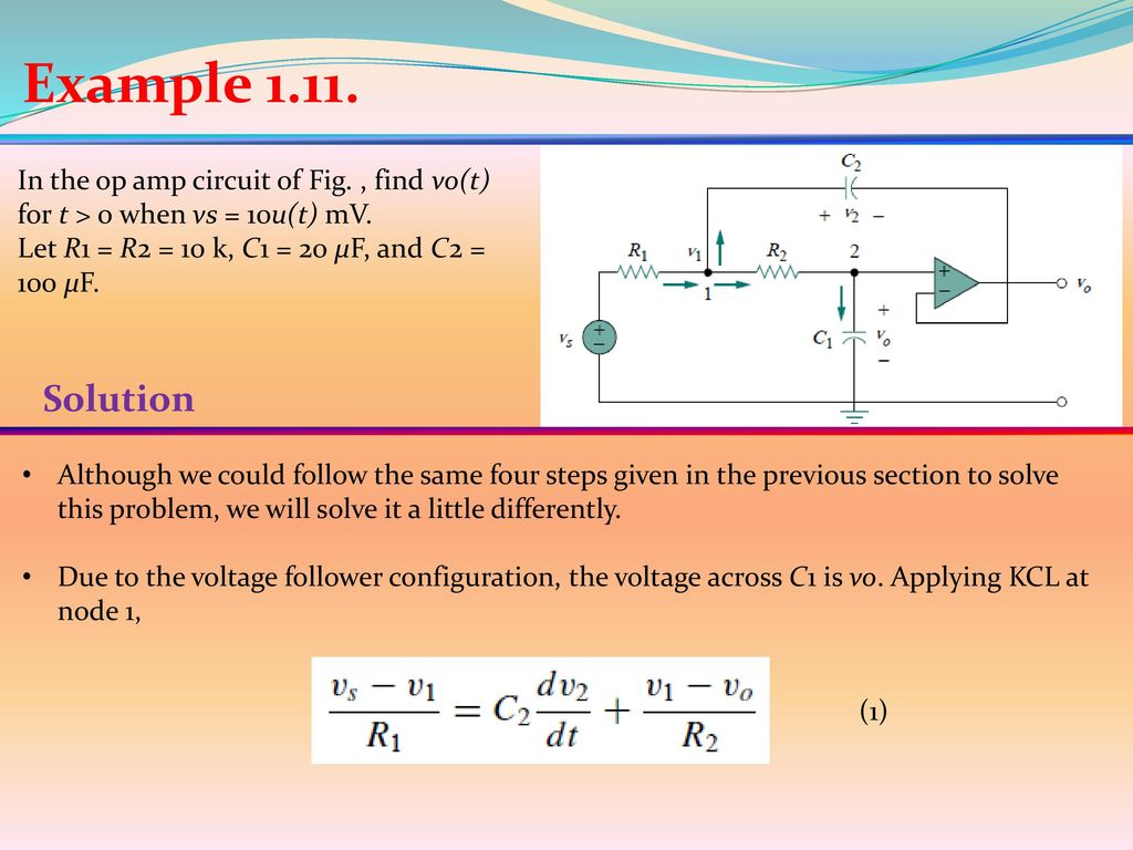 15 General Second Order Circuits Ppt Download Find The Norton Equivalent With Respect To 20uf Capacitor Example In Op Amp Circuit Of Fig Vot For