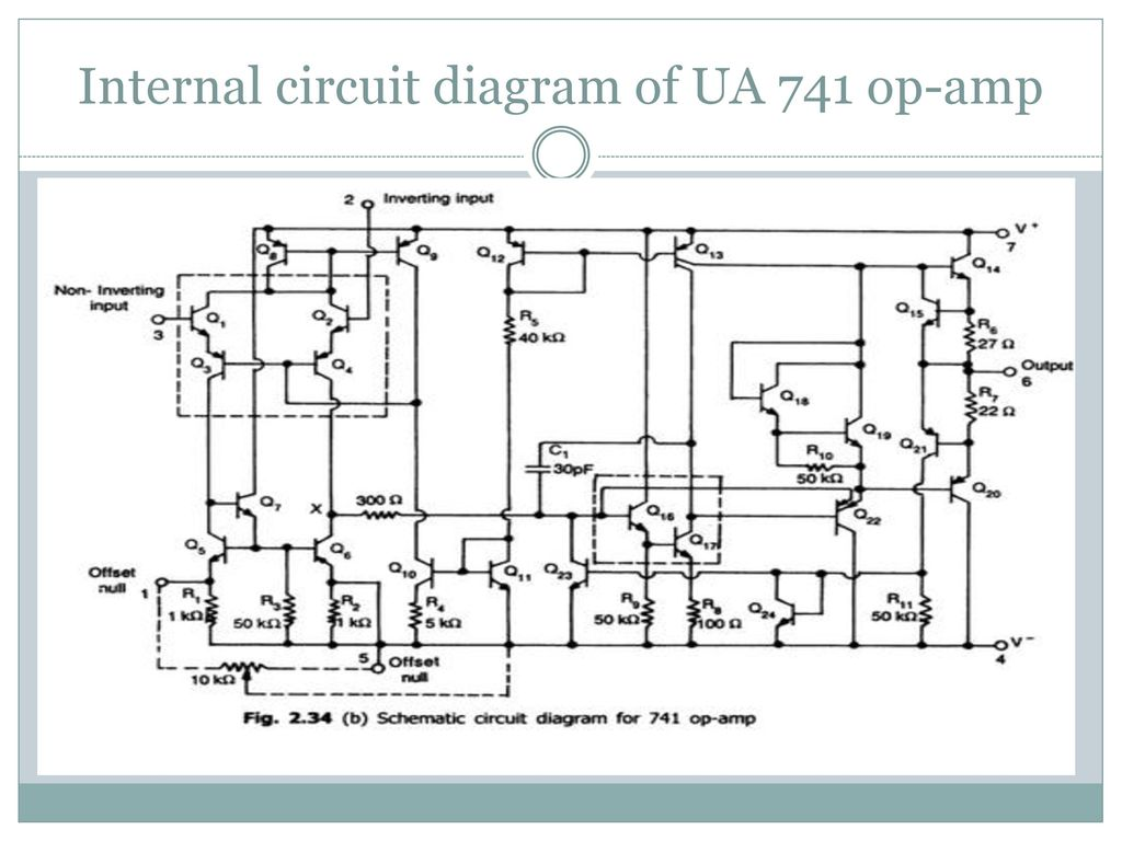 Operational Amplifier Ppt Download 741 Electronic Circuits 17 Internal Circuit Diagram Of Ua Op Amp