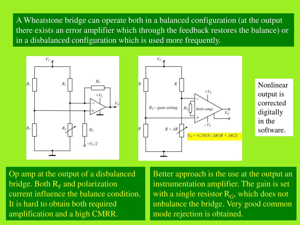 3 Signal Conditioning Sensors Are Very Rarely Directly Connected To Circuit Diagram Schematic On Wheatstone Bridge Single Op Amp Measurement Circuits 8 It