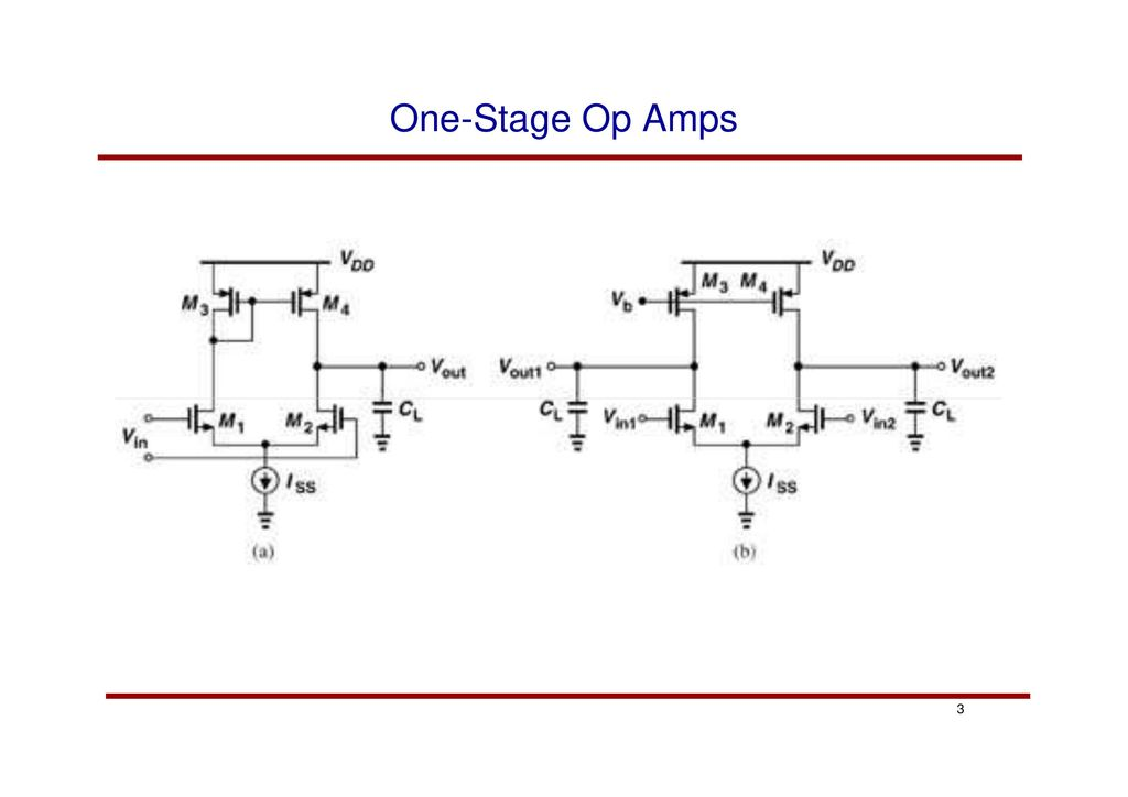 analog cmos integrated circuit design opamp design ppt download3 one stage op amps 3