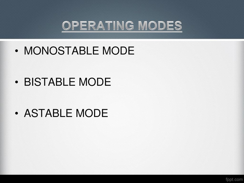 Sensors Ppt Video Online Download Astable Operation Mode Circuit 15 Operating Modes Monostable Bistable