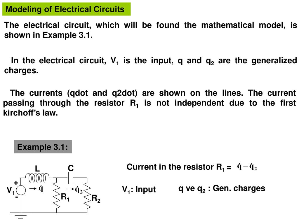 Modeling Of Electrical Circuits Ppt Download Electric Circuit Model