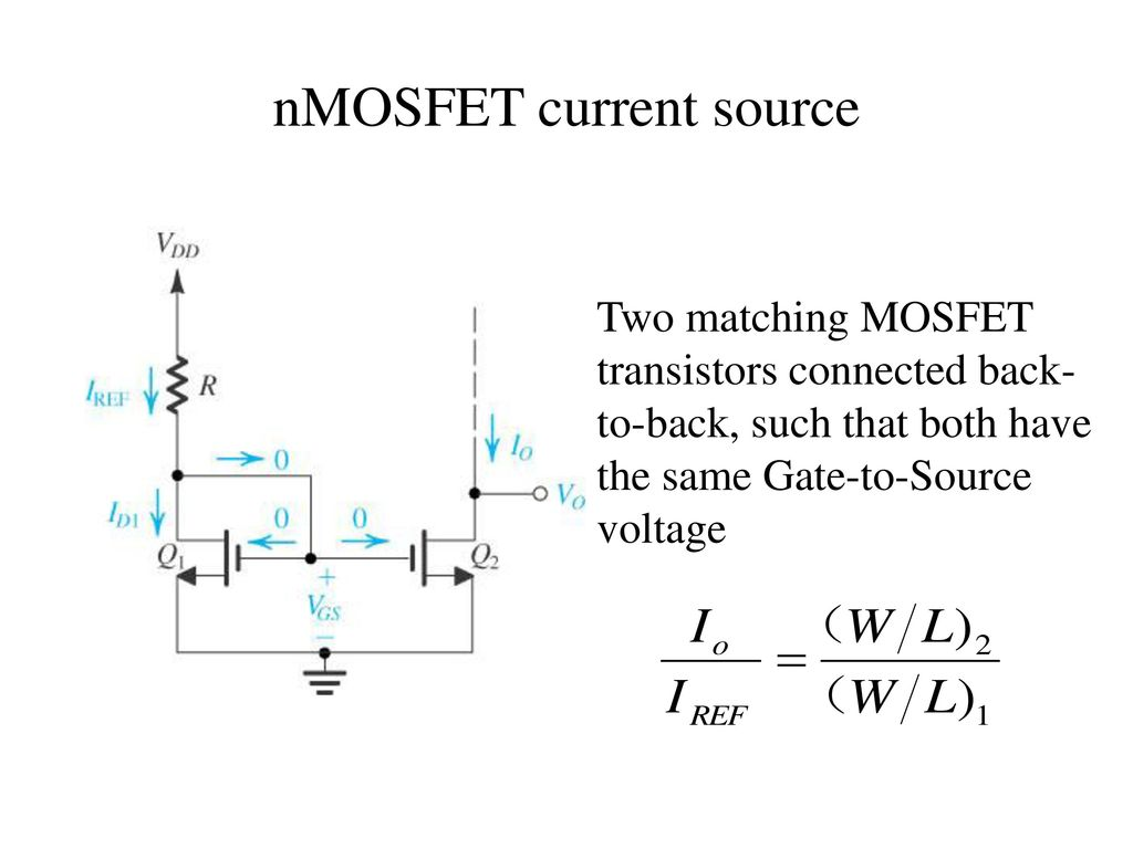 Unit V Ic Mosfet Amplifiers Ppt Video Online Download Transistor Circuit 10 Nmosfet Current Source