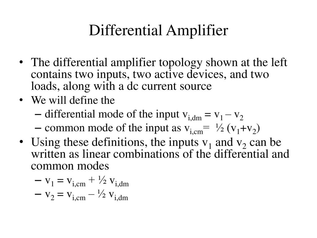 Unit V Ic Mosfet Amplifiers Ppt Video Online Download Constant Ac Current Source General Purpose Amplifier Other Linear Differential