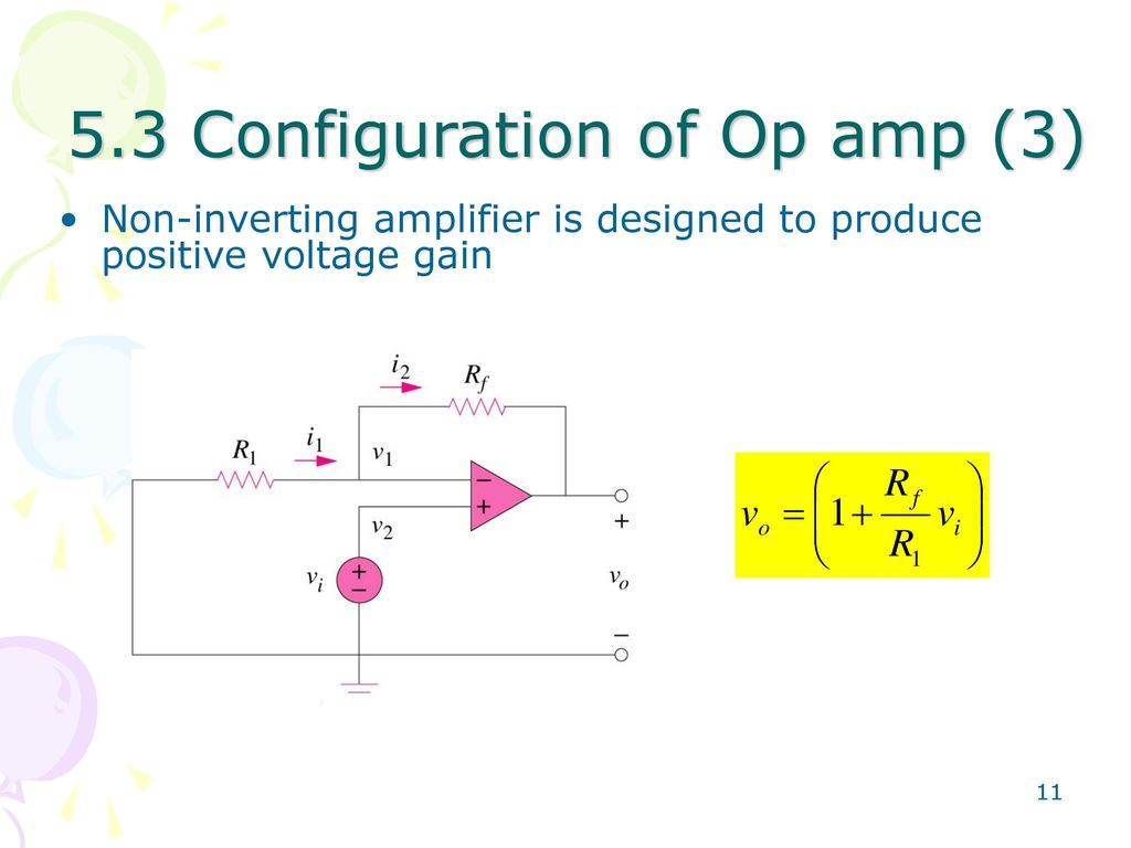 Chapter 5 Operational Amplifier Ppt Download Fig 11 Op Amp Non Inverting 53 Configuration Of 3