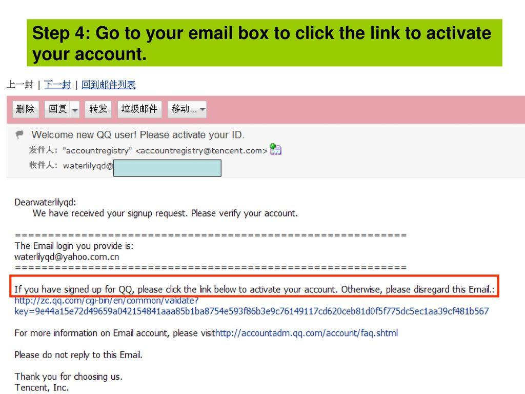 QQ Registration & Usage - ppt download