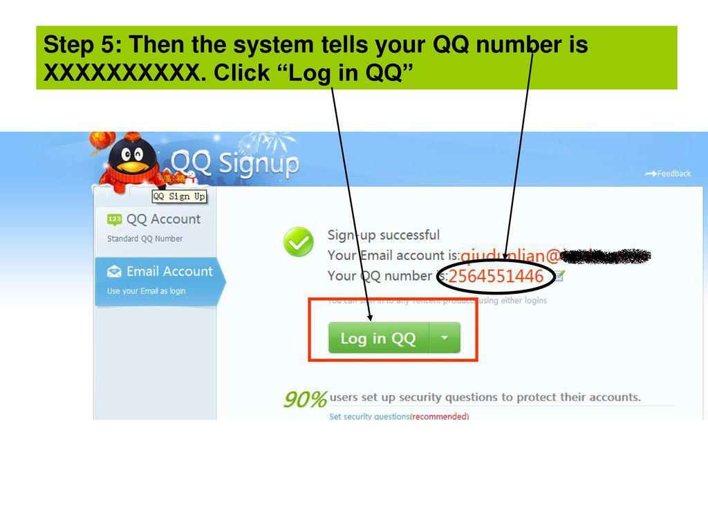 Qq Registration Usage Ppt Download