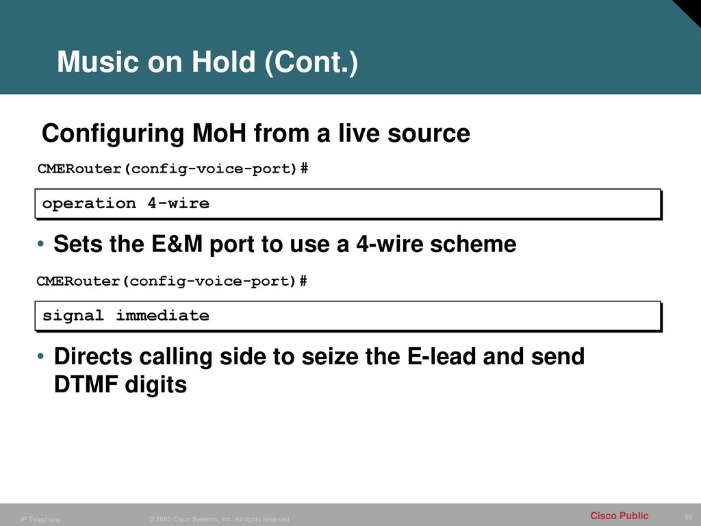 Configuring CME Additional Features - ppt download