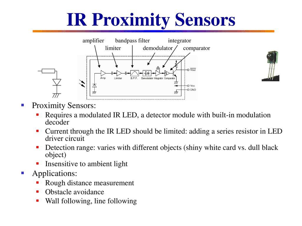 Robot Sensing And Sensors Ppt Download Proximity Switch Circuit Ir Applications
