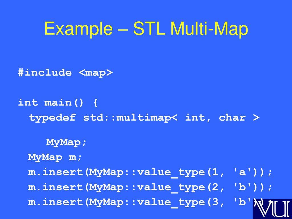 C++] stl map examples programming (c#, c++, java, vb, Net etc.