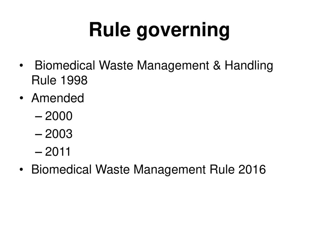 Bmw Rules 2018 Amendment Biomedical Waste Management Rules Amended