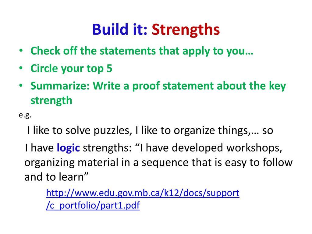top key strengths