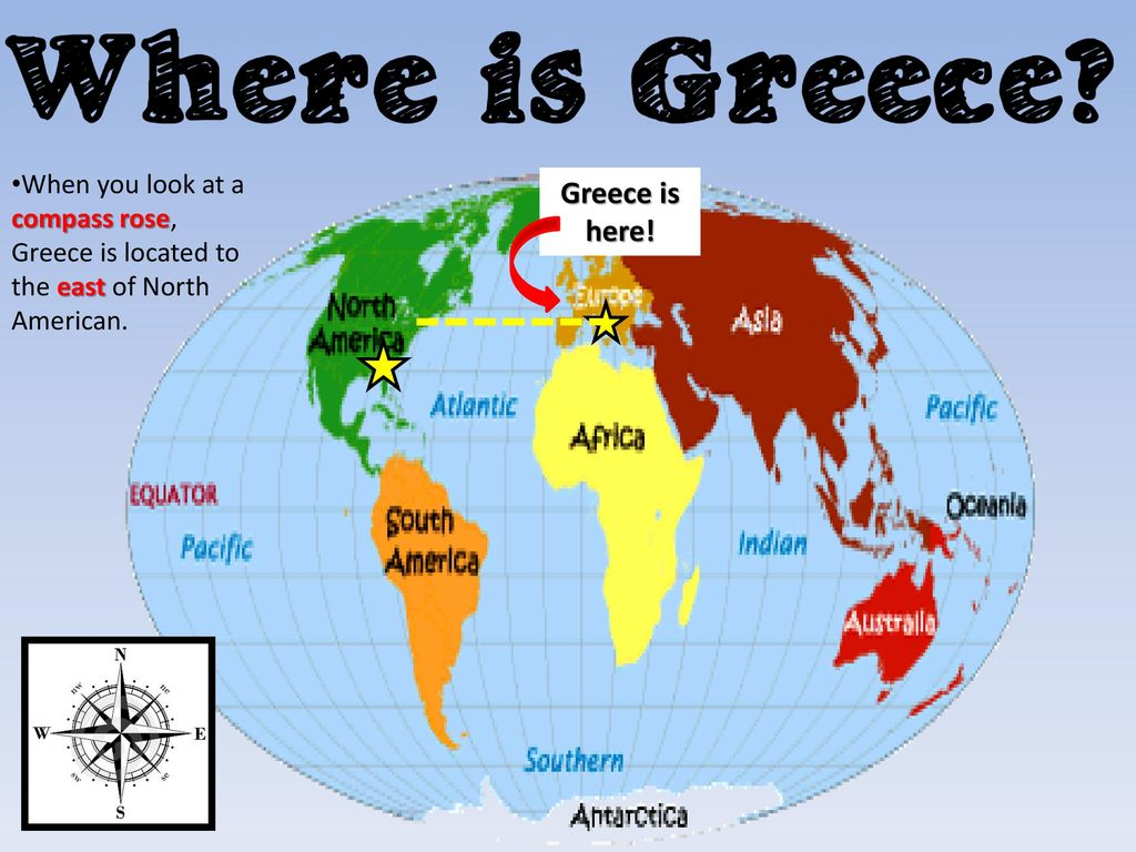 America Map With Compass.Where Is Greece On A Map Magnifying Glass Where Is Greece On A Map