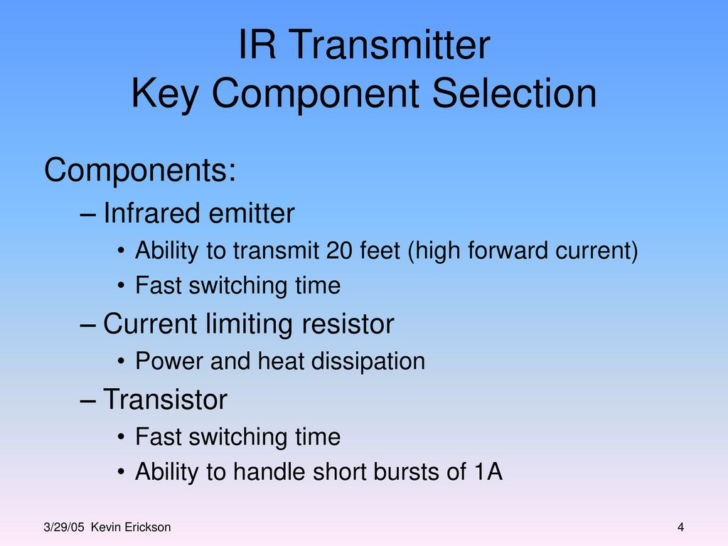 Infrared Transmitter And Receiver Block Design Ppt Video Online Ir Circuit Key Component Selection