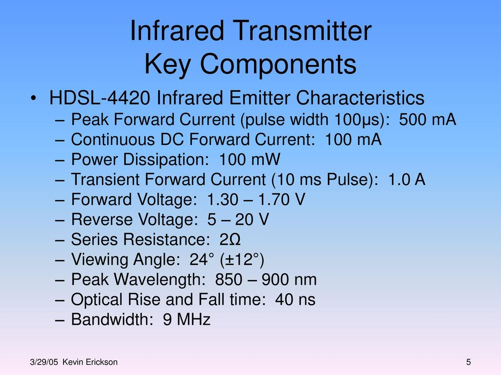 Infrared Transmitter And Receiver Block Design Ppt Video Online Ir Circuit 5 Key Components