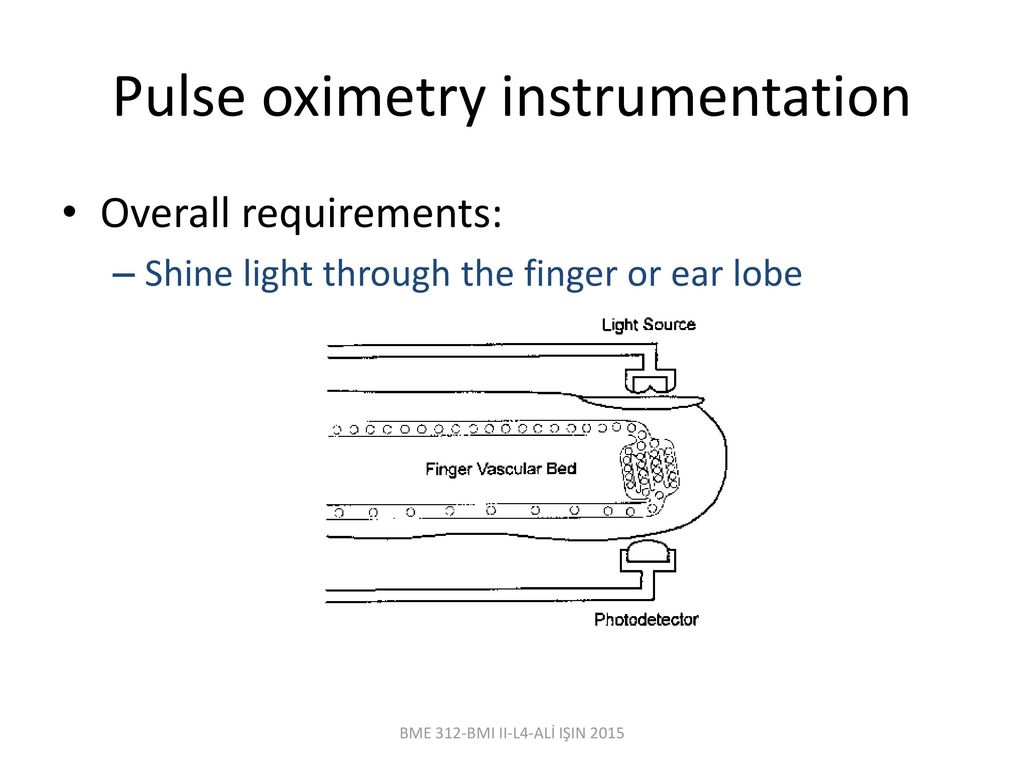 Bme 312 biomedical instrumentation ii lecturer al iin ppt download pulse oximetry instrumentation ccuart Images