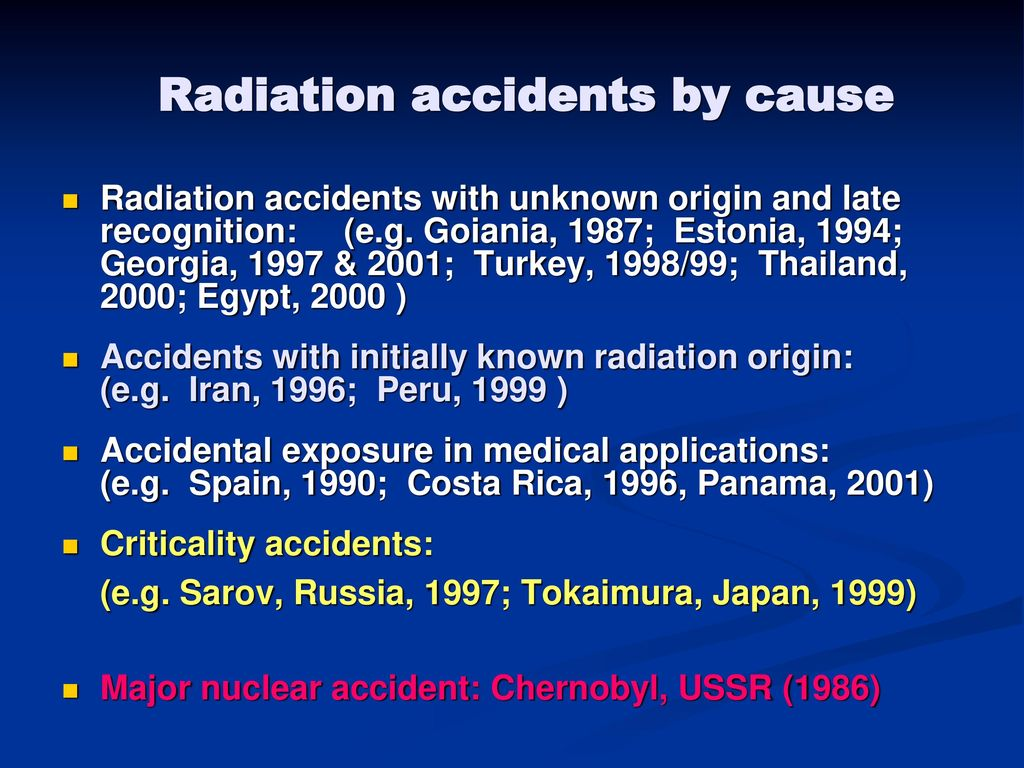 Radiation Emergency Situations - ppt download