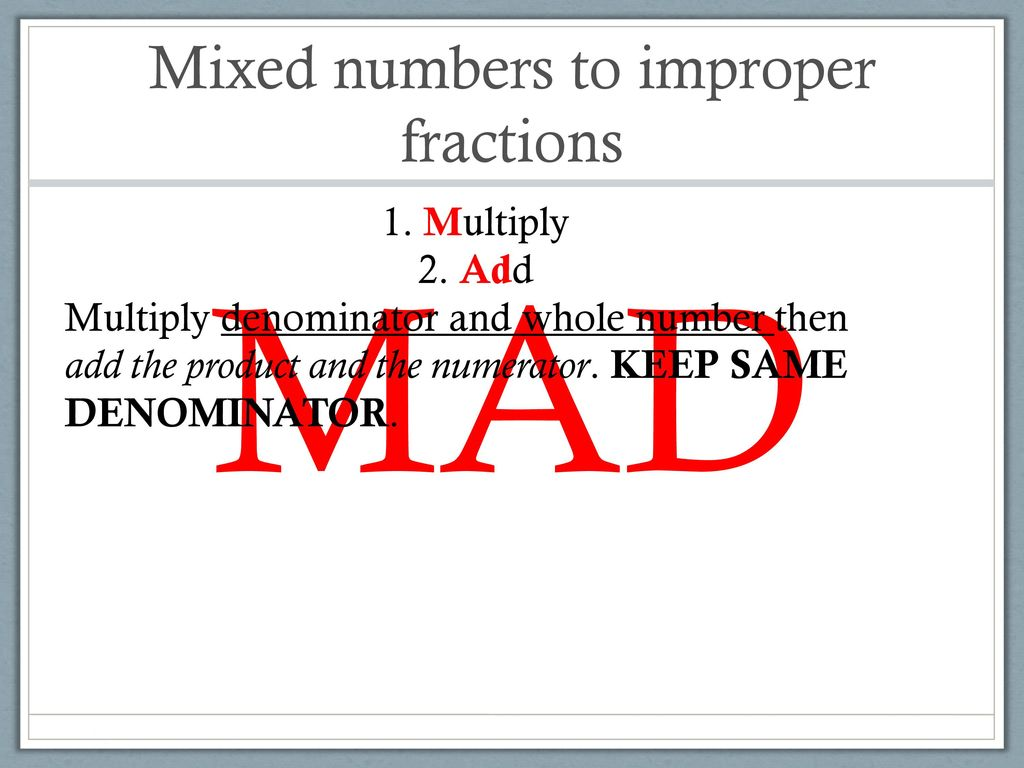 dividing mixed numbers - ppt download